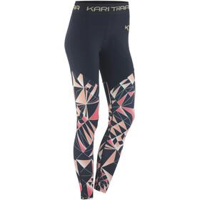 Kari Traa Vilde - Pantalones largos running Mujer - rosa/azul